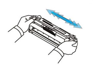 gently shake each CLT-404S toner cartridge
